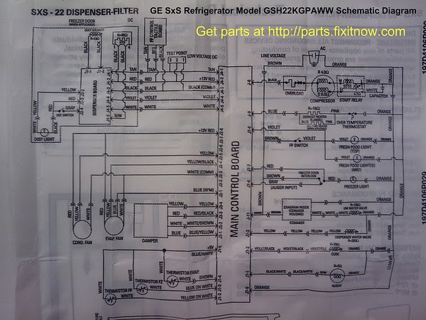 Ge Gas Dryer Wiring Diagram Additionally Ge Refrigerator Wiring