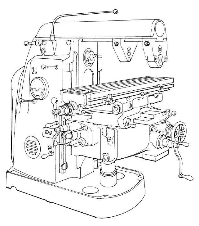 Milling Machine Drawing