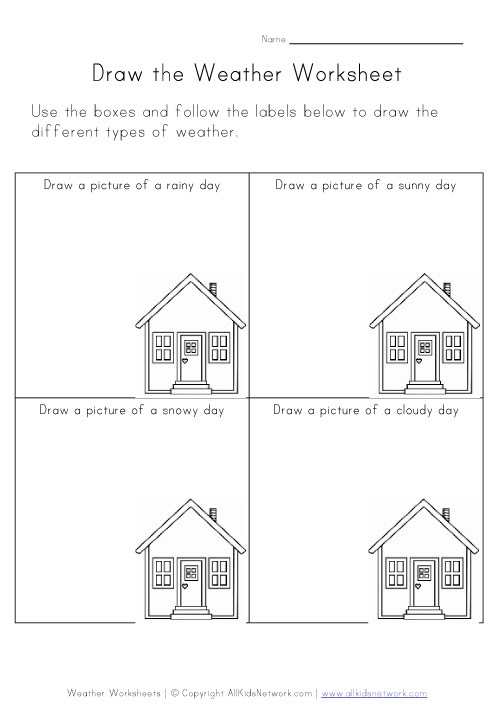 weather worksheet: NEW 536 WEATHER DRAWING WORKSHEETS