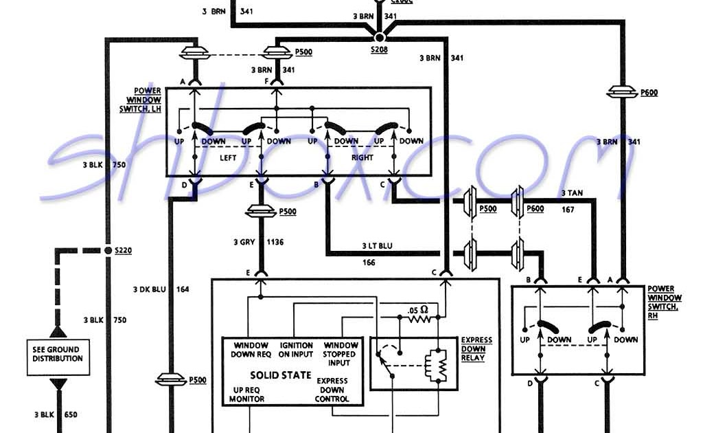 Wiring Diagram Power Window Switch