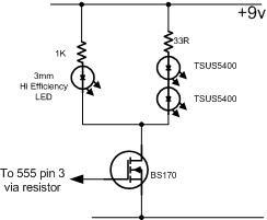 Simple IR Remote Control Extender Circuit Diagram