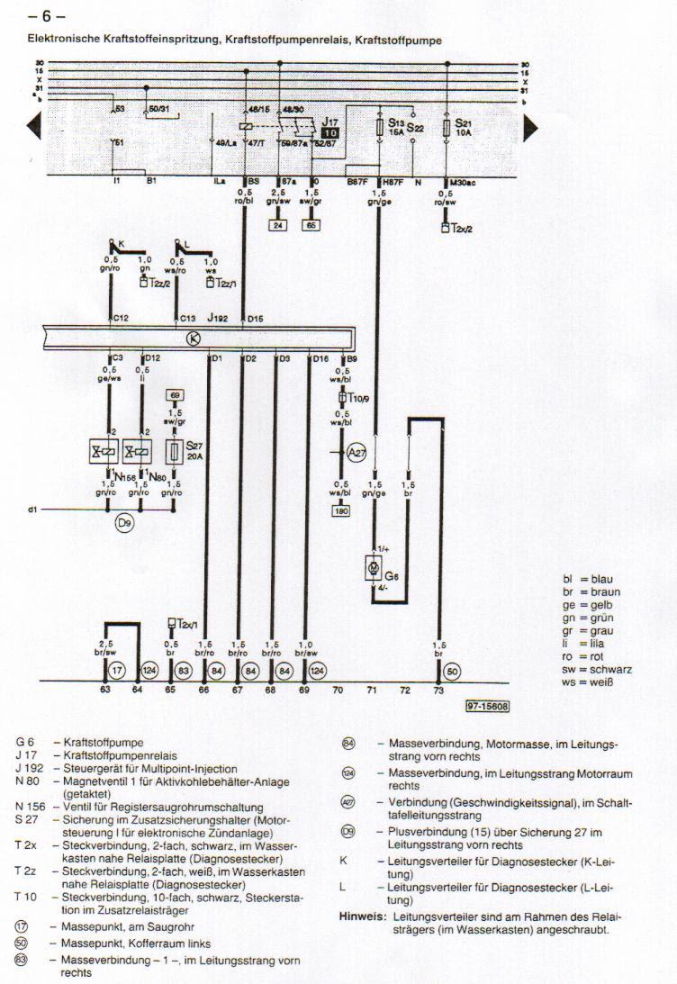 Audi 80 B4 Ng Schaltplan