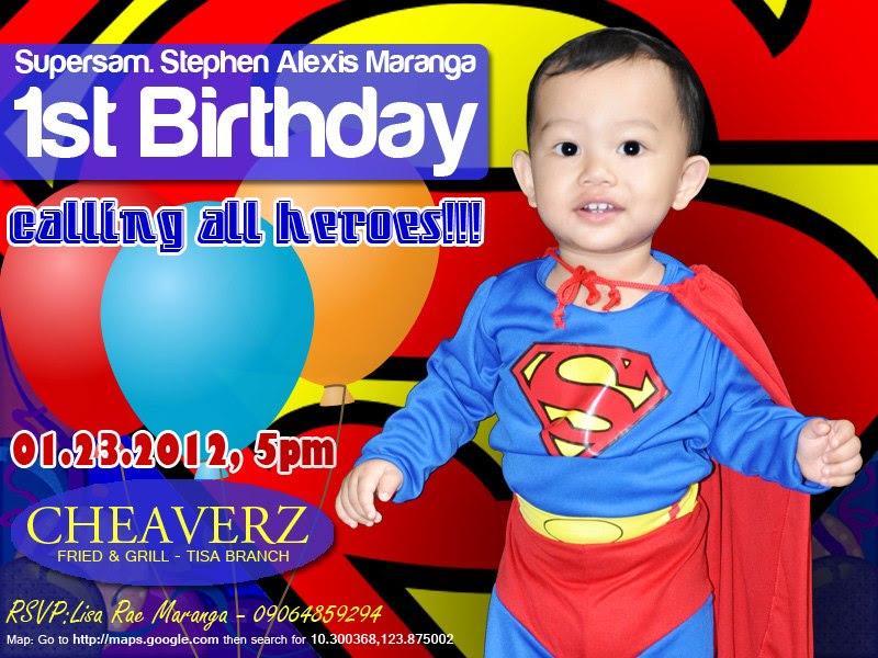 superman tarpaulin layout 1st birthday