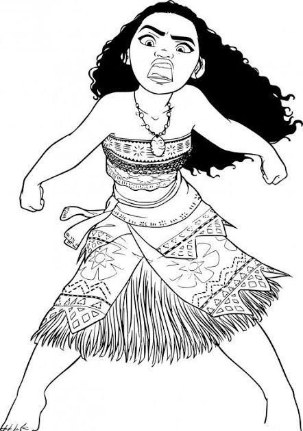 Malvorlagen Vaiana Ukulele