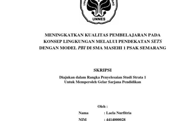 Judul Skripsi Pendidikan Biologi Ptk Ide Judul Skripsi Universitas Cute766