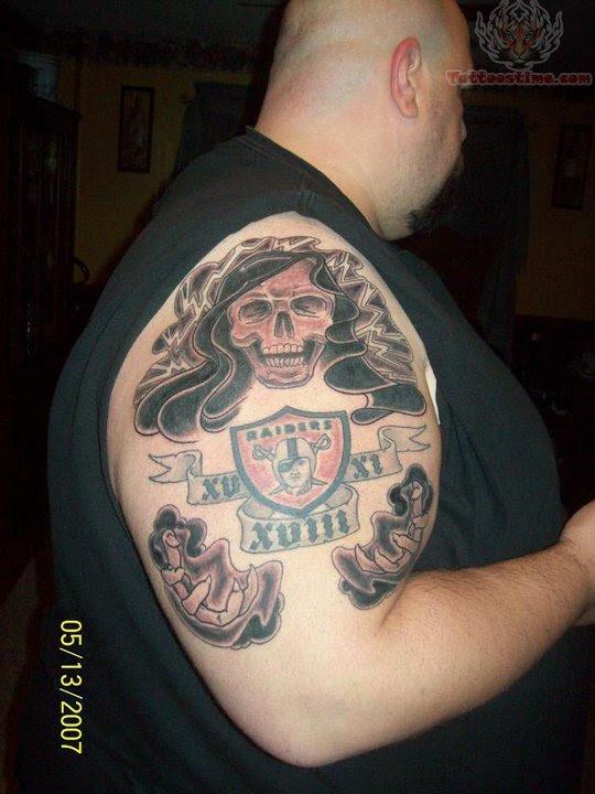 Raiders Skull Tattoo : raiders, skull, tattoo, Raider, Tattoo, Sleeve