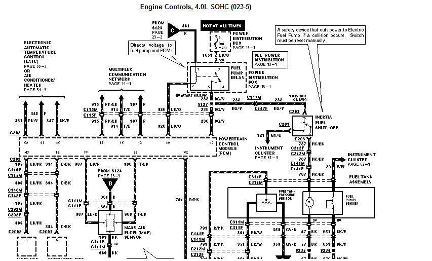 Ford Explorer 1998 Air Condition Schematic / 1998 Ford