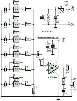 Steam Whistle Sound Generator Circuit « Audio Circuit