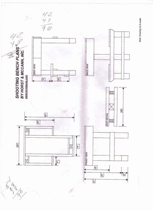 Shooting bench plans download