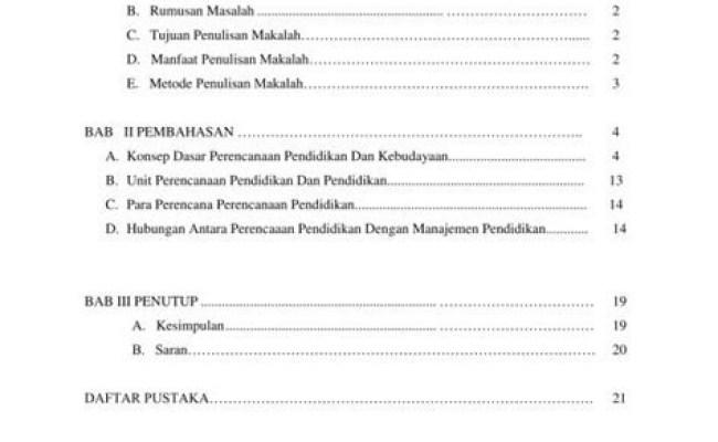 Contoh Makalah Mahasiswa Daftar Isi Kumpulan Contoh Makalah Doc Lengkap Cute766