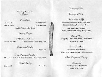 Sample Wording Wedding Programs Roles Entire Wedding