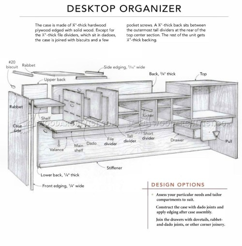 small resolution of 1833 desktop organizer plans furniture plans