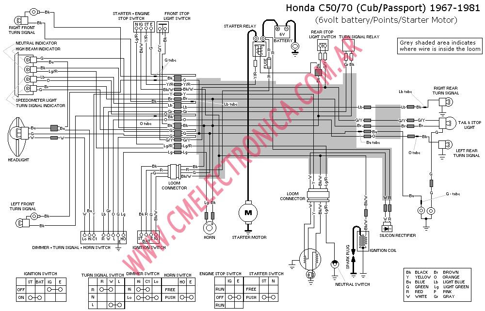 1982 Honda C70 Passport Wiring Diagram