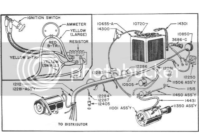 basic headlight wiring diagram ford 9n