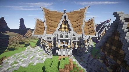 minecraft hall town interior medieval schematic project via planetminecraft
