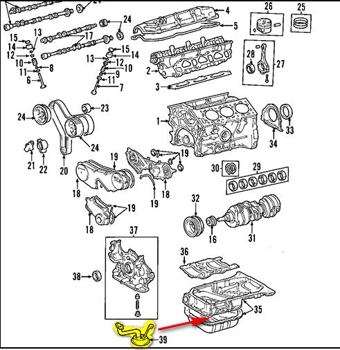 Solved: 2002 Toyota Highlander: Oil Sump Tube Location?