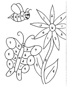 math coloring sheets : Free Math Coloring Worksheet