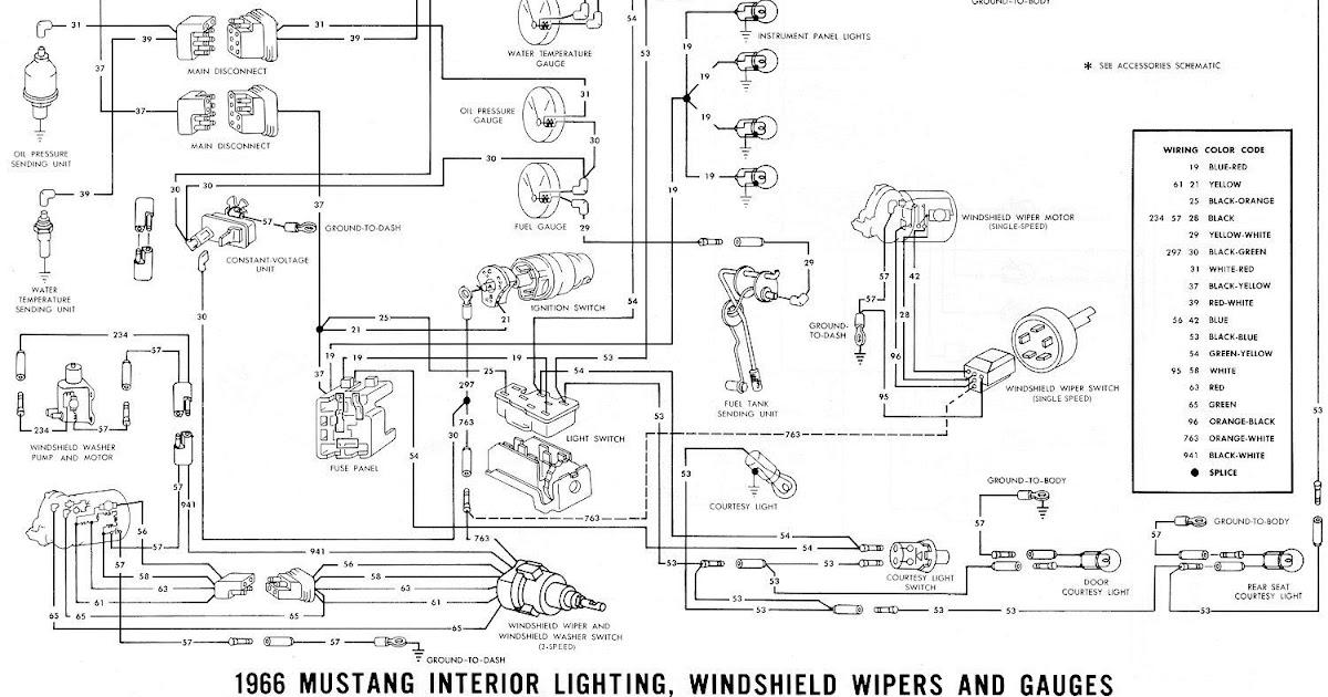 1966 Mustang Wiring Diagram Dashboard