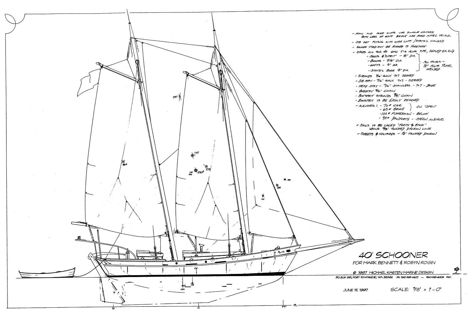 Cabin cruiser: Sailboat Model Plan