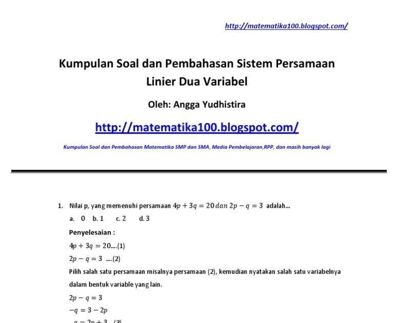 Apabila x, y anggota bilangan real terletak pada himpunan penyelesaian sistem pertidaksamaan x ≥ 0; Contoh Soal Dan Jawaban Fungsi Linear Dan Grafiknya