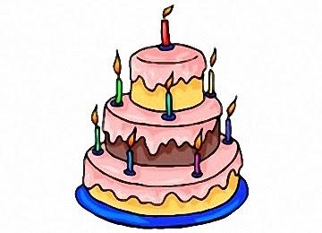 Malvorlage Torte Geburtstag