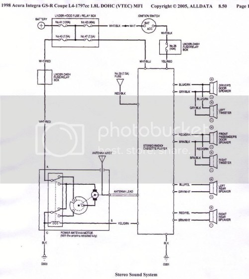 small resolution of acura tl speaker wiring diagram there you go alldata i never argue with it