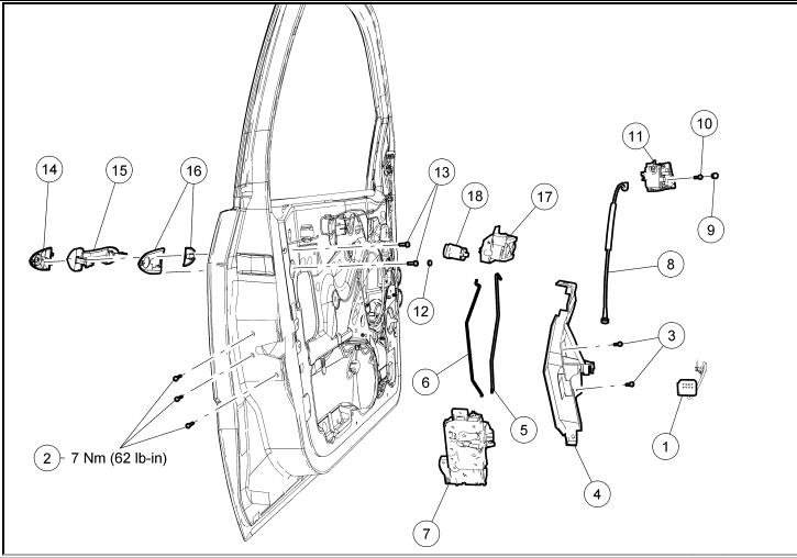 Wiring Diagram: 7 2007 Ford Focus Door Handle Diagram