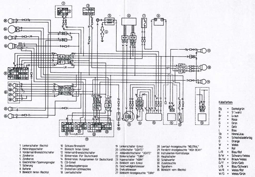 Schema Impianto Elettrico Xt 600 2kf