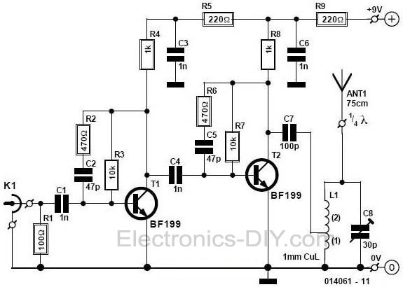 Wireless Microphone Transmitter And Receiver Circuit