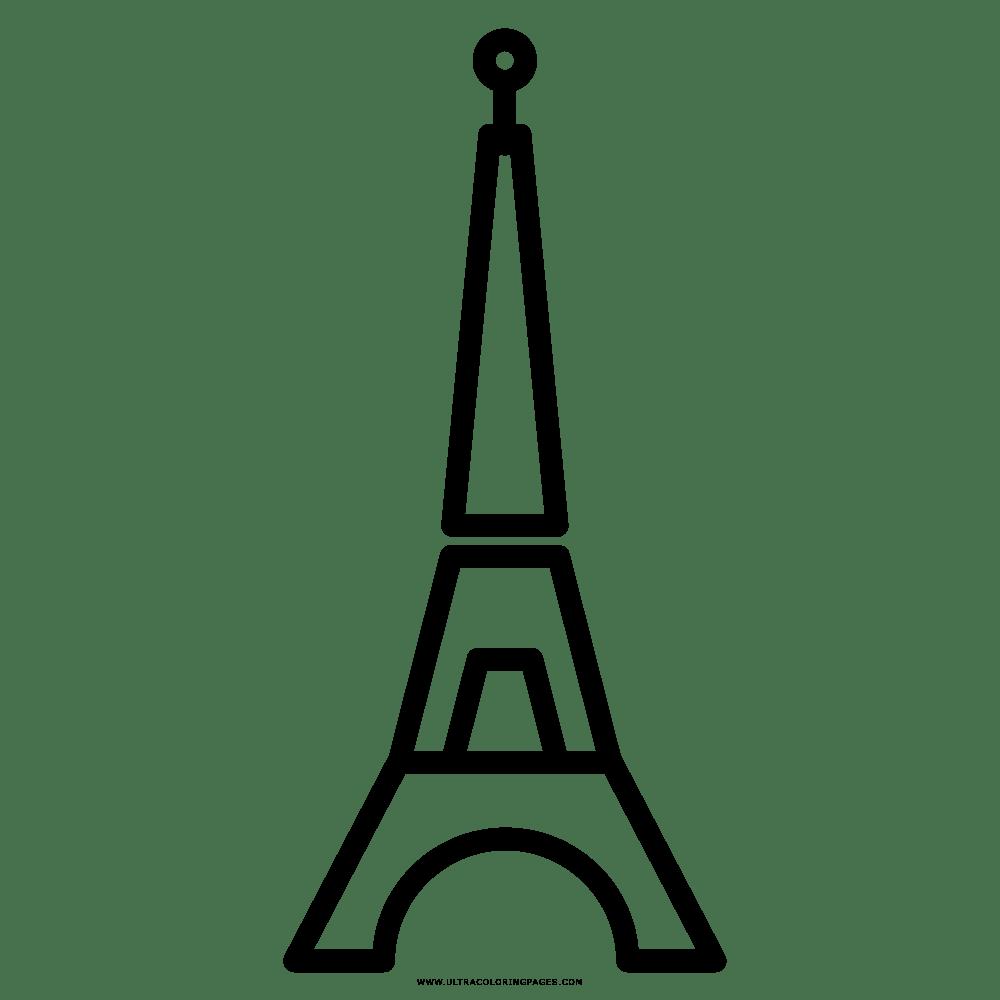 Eiffelturm Malvorlage