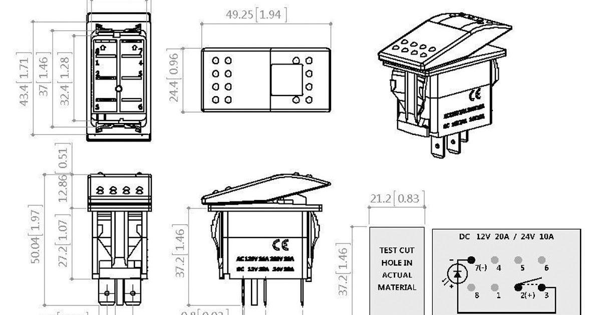 4 Pin Illuminated Rocker Switch Wiring Diagram : How to