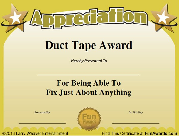 funny office awards categories