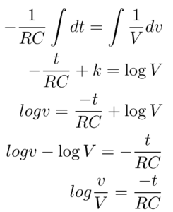 Charging And Discharging A Capacitor Equations