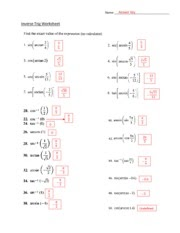 Graphing Trig Functions Practice Worksheet With Answers