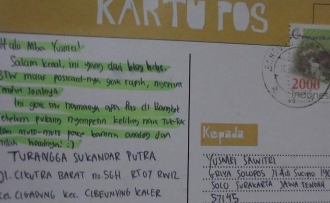 Contoh Postcard Tentang Liburan Dalam Bahasa Inggris Cute766