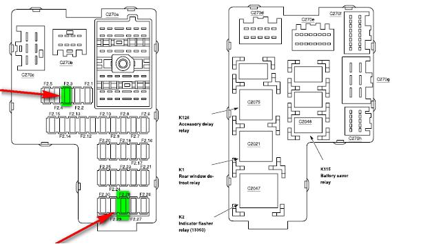 bmwwiringdiagram: 1999 Mercury Mountaineer Fuse Diagram