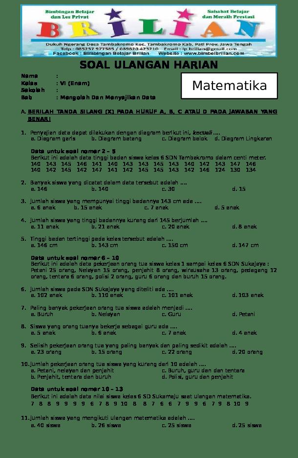 Soal Matematika Kelas 6 Bab Diagram Lingkaran : matematika, kelas, diagram, lingkaran, Lesley, Pearson:, Matematika, Kelas, Diagram, Lingkaran