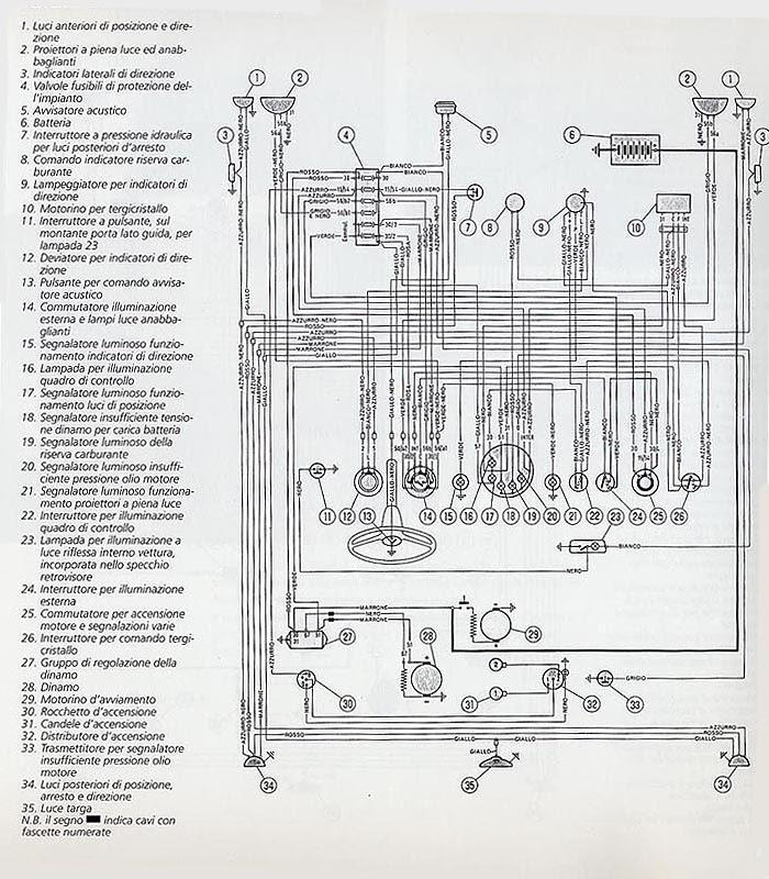 [Download 22+] Schema Impianto Elettrico Fiat 500 F Epoca
