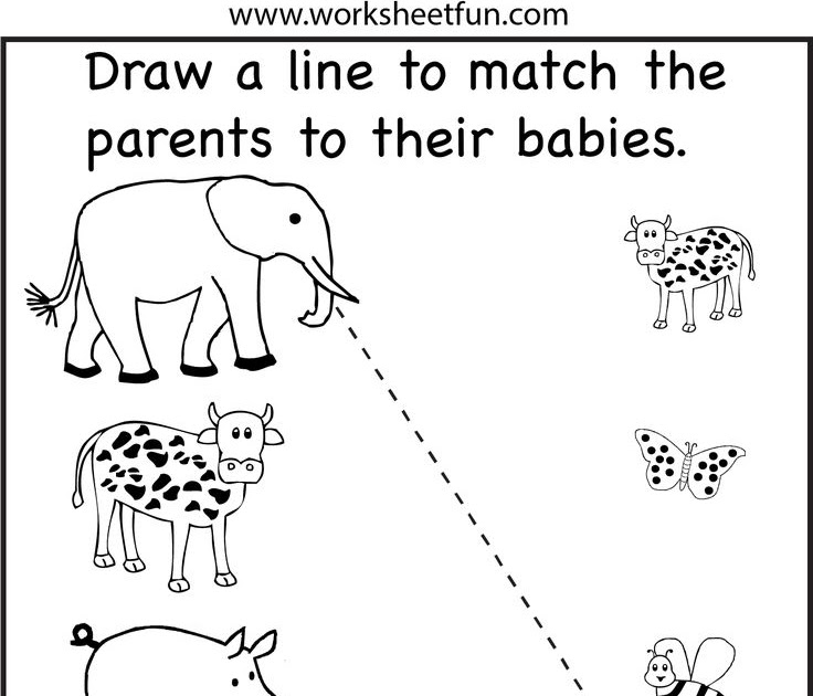 animal worksheet: NEW 987 ANIMAL MATCHING WORKSHEETS PRESCHOOL