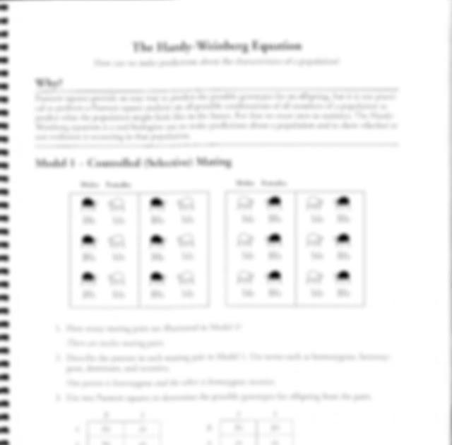 The Hardy-Weinberg Equation Pogil Answer Key Pdf / Pogil
