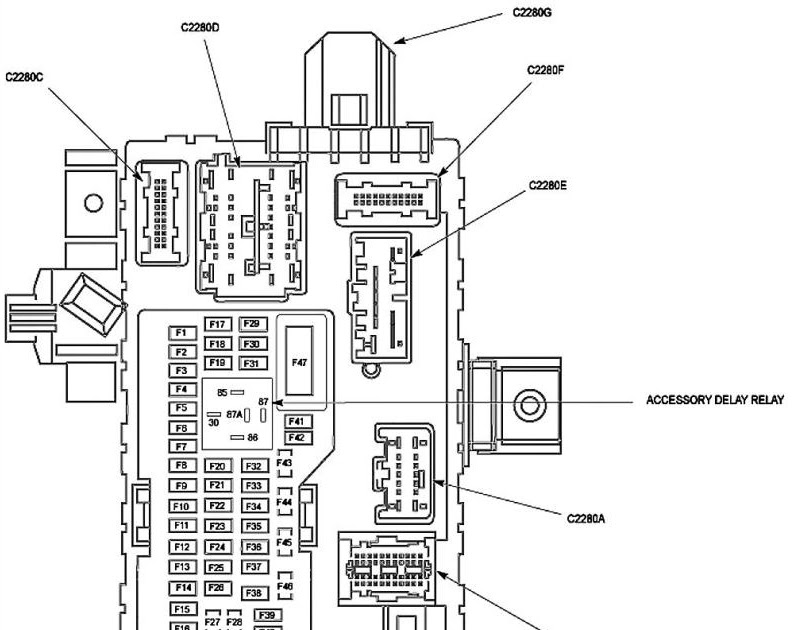 2008 Ford F 350 Fuse Box Diagram