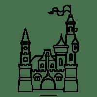 Ausmalbilder Schloss Prinzessin   Ausmalbilder