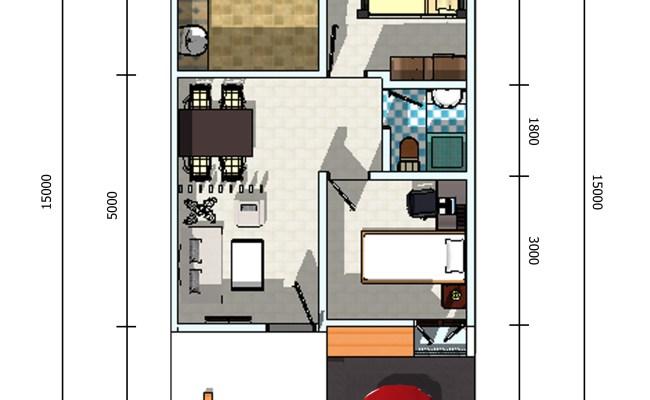 Contoh Rumah Minimalis Ukuran 8 10 Sederhana Denah Rumah Cute766