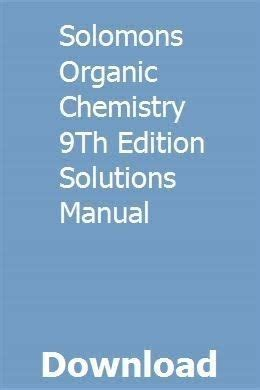 Download solomons-organic-chemistry-9th-edition-solutions