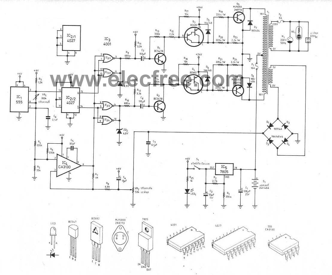 Wiring Manual PDF: 1000 Watt Inverter Circuit Diagrams