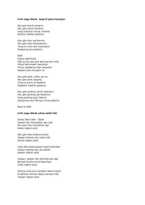 Orkes Sakit Hati Lirik : orkes, sakit, lirik, Chord, Slank, Orkes, Sakit, Lirik, Musik