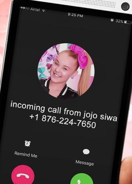 Real Jojo Siwa Phone Number : phone, number, Siwas, Phone, Number, Change, Comin