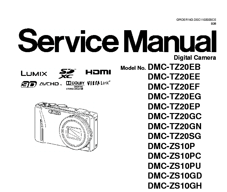 Bestseller: Service Manual Panasonic Zs 10