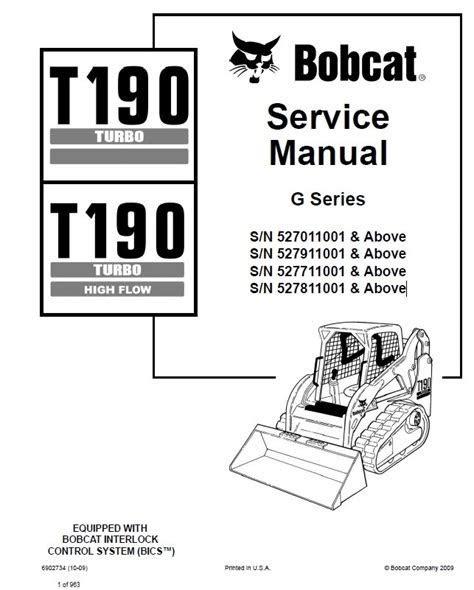 Free Download bobcat compact track loader t190 service