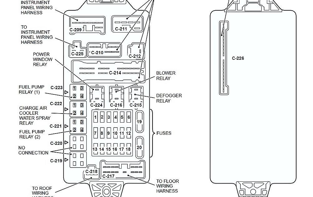 2002 Mitsubishi Montero Fuse Box Diagram